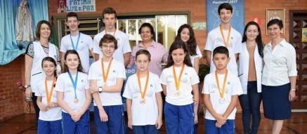 Grupo de medalhistas